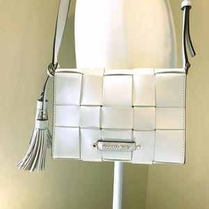 Michael Kors Optic White leather Vivian Messanger